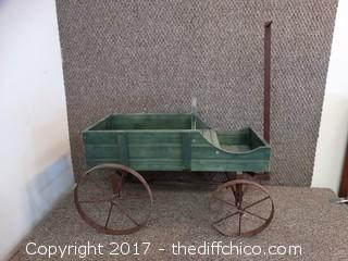 "Wagon Decor L-21"" T-13"" W-14"""