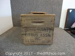Butte County Citrus Wood Crate