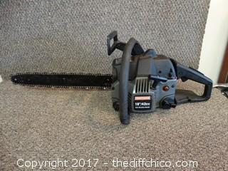 "18"" 42cc Craftsman Chainsaw (Untested)"