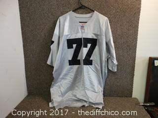 Raiders Jersey #77 Size 54