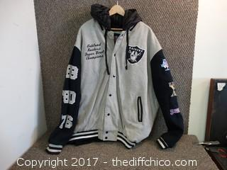 Raiders Superbowl Jacket Size 3x L