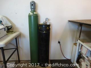 Oxygen and Acetylene Bottles