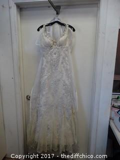 Taylor Made Ivory Wedding Dress
