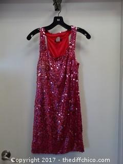 Pink Sequence Dress Size Small