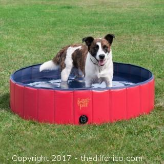 FrontPet Folding Dog Pool with Drain Plug (#0002)