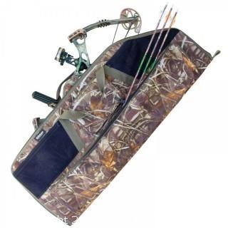 Elkton Outdoors Grassland Camo Rugged Portable Soft Bow and Arrow Case (#0007)