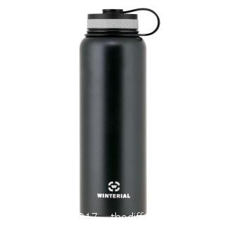 WINTERIAL INSULATED 40OZ WATER BOTTLE - BLACK (#0014)