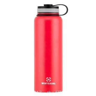WINTERIAL INSULATED 40OZ WATER BOTTLE - RED (#0015)