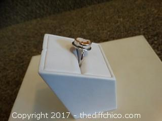 Size 7 Mother Of Pearl/ Silver Ring