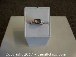 Size 6 1/2 Silver Ring With Stone
