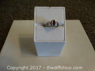 Size 5 Silver Ring With Stone