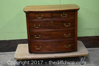 Widdicomb Mahogany 5 Drawer Dresser