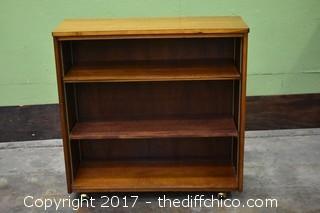 Rolling  Bookcase w/Adjustable Shelves