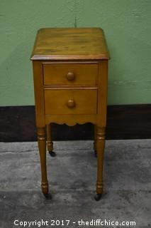 Rolling Vintage Night Stand