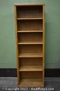 Oak Bookcase w/Adjustable Shelves
