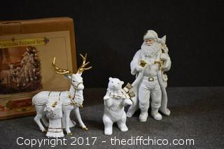 NIB 3 Piece Porcelain Figurine Set