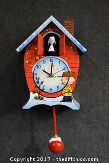 Peanuts Working Clock-Musical & Animated