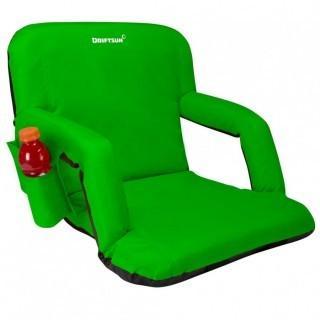 Driftusn Stadium Seat Reclining Bleacher Chair - Regular 20 Inch - Green (0026)