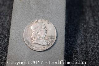 1958d Benjamin Franklin Half Dollar