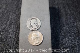 2 Jefferson Silver Quarters