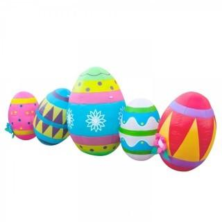 Holidayana Easter Inflatable / Easter Egg Decorations / 8 ft Wide Easter Yard Decorations