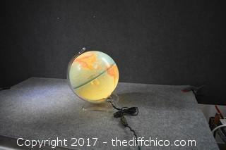 Working Lighted Globe