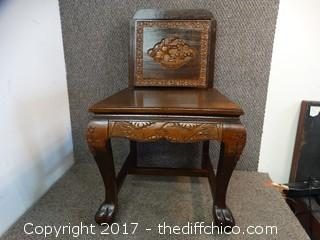 Oriental Wood Carved Chair