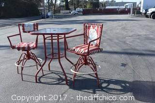 Pub Table w/2 Swivel Chairs