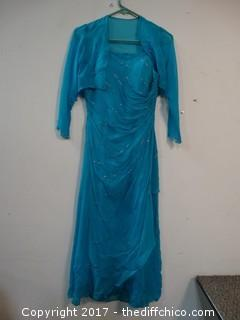 Teal Party Dress