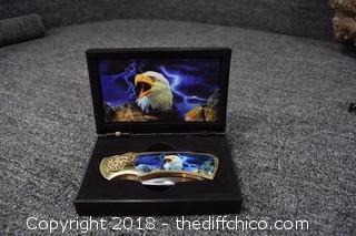 Folding Eagle Knife w/Box
