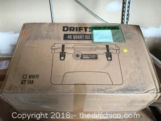 Driftsun 45-Quart Performance Ice Chest | Insulated Rotomolded Cooler - Tan (0012)