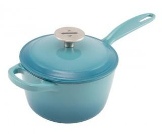 Zelancio Cast Iron 2 Quart Sauce Pot - Teal (0024)