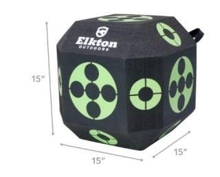 Elkton Outdoors 2017 Edition 18-Sided 3D Cube Reusable Archery Target (0026)