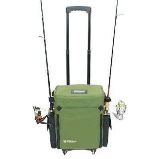 Elkton Outdoors Rolling Tackle Box With Removable Tackle Trays  (0030)
