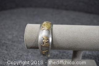 Sterling Silver & 18k Gold Bracelet