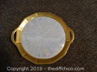 signed Germany 1926 Gold Handeled Plate
