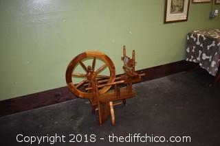 Wood Spinning Wheel