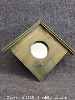"Birdhouse Mirror - 16"" x 14"" - Solid Wood Frame"