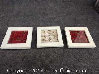 "Shabby Chic Flower Box Wall Decor (3) - 4.5"" x 4.5"""