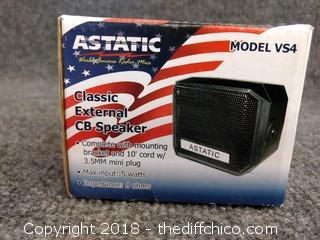 Astatic Classic External CB Speaker - Model VS4