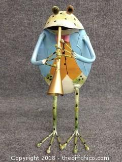 "14"" Tall Metal Yard Art Frog"
