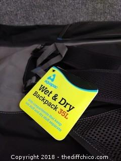 Aguapac Wet and Dry Backpack 35L - NEW
