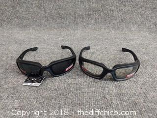 Safety Glasses - Shatter Proof - Polycarbonate - 2 Pairs - NEW