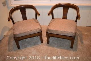 Pair of Chairs w/Cushions