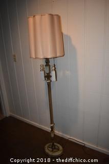 Vintage Pole Lamp w/Marble Base