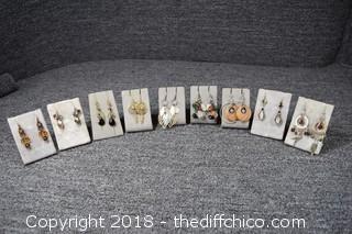 9 Pair of Earrings