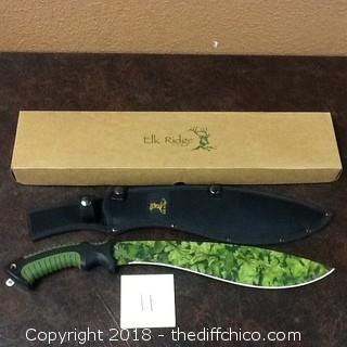 new Elk Ridge machete camp knife