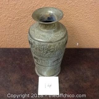 old brass vase