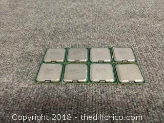 Intel Core 2 Quad Processors (8) - Tested and Working