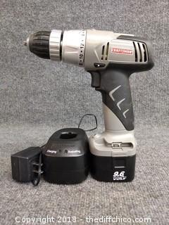Craftsman 9.6 Volt Drill - Tested and Working